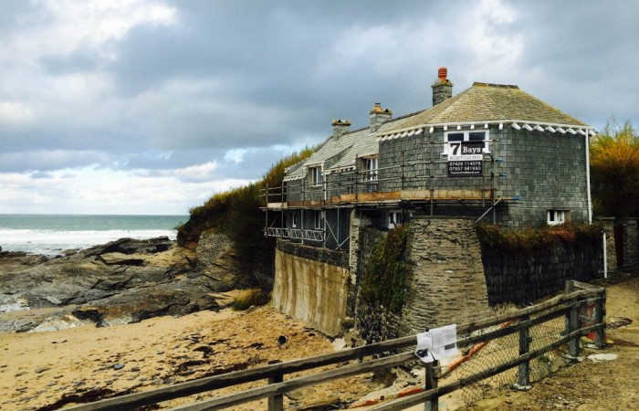 Scaffolders in North Cornwall