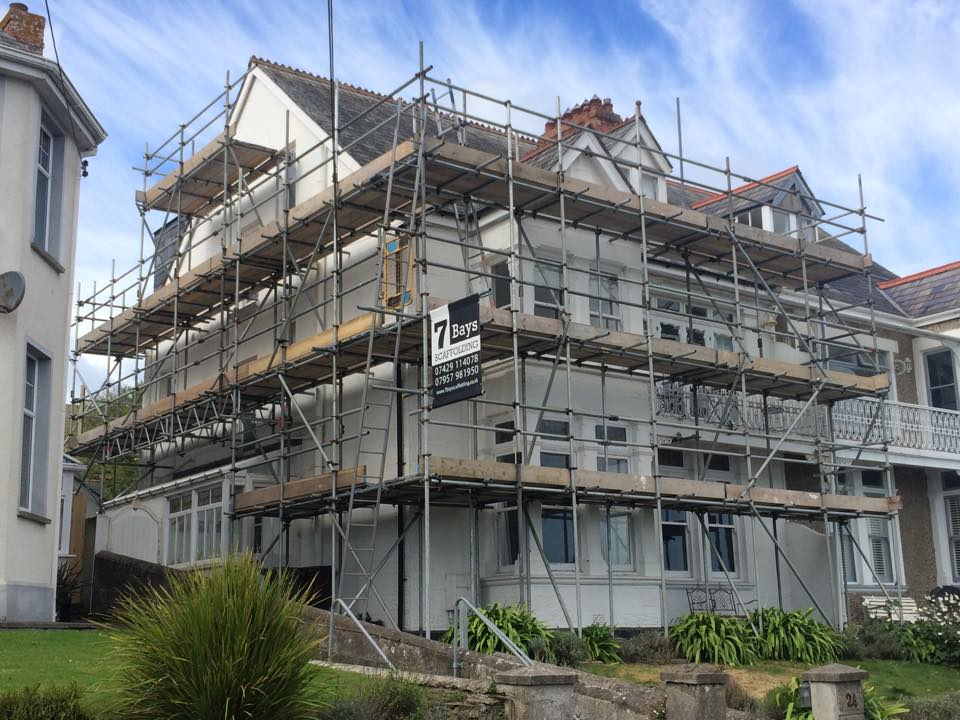 7 bays scaffolding padstow