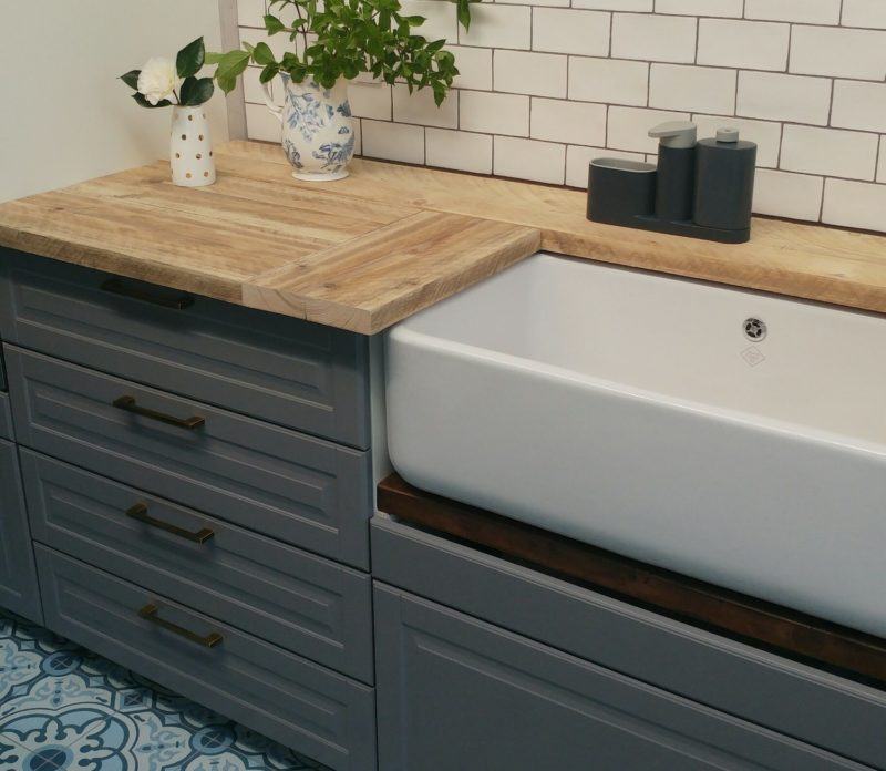 worktops made from scaffolding boards