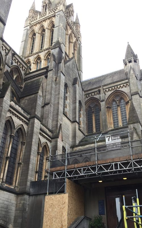truro cathedral scaffolding