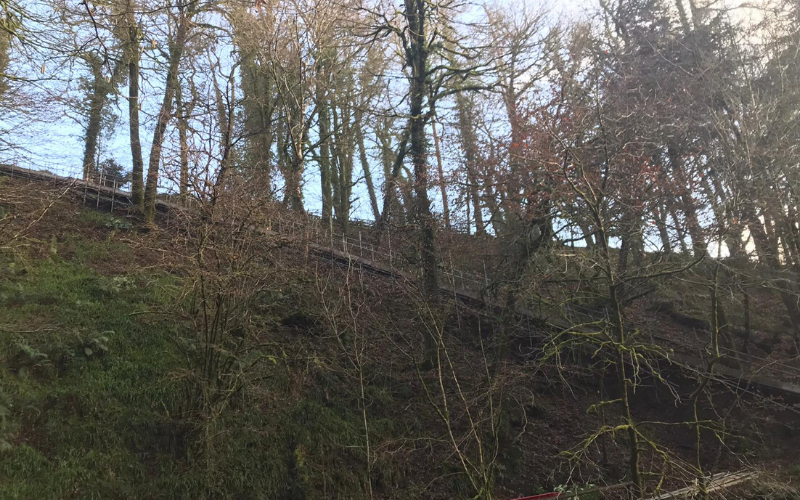 building works at lydford gorge